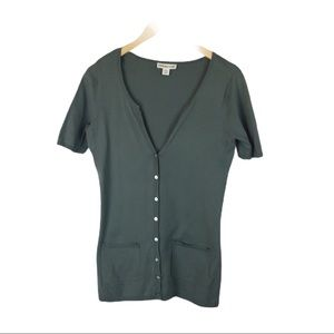 COPY - Coldwater Creek sage green button front top